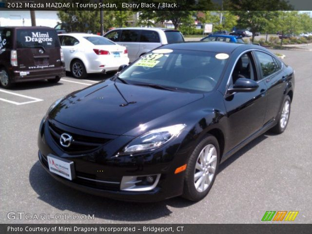 ebony black 2012 mazda mazda6 i touring sedan black interior vehicle. Black Bedroom Furniture Sets. Home Design Ideas