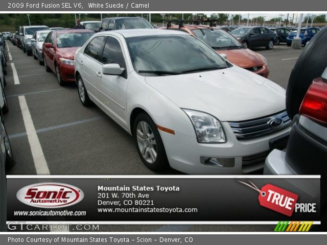2009 Ford Fusion SEL V6 in White Suede
