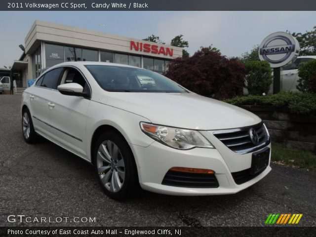 candy white 2011 volkswagen cc sport black interior vehicle archive 81634250. Black Bedroom Furniture Sets. Home Design Ideas