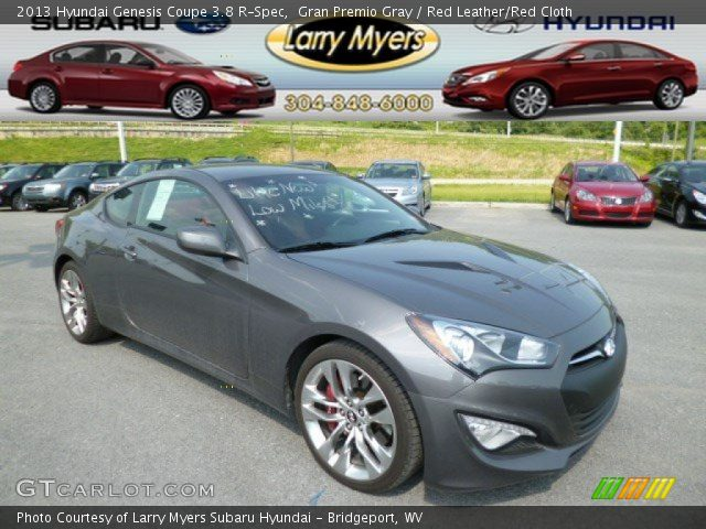 gran premio gray 2013 hyundai genesis coupe 3 8 r spec red leather red cloth interior. Black Bedroom Furniture Sets. Home Design Ideas
