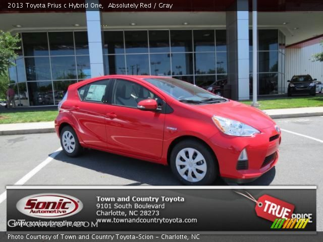 absolutely red 2013 toyota prius c hybrid one gray interior vehicle archive. Black Bedroom Furniture Sets. Home Design Ideas