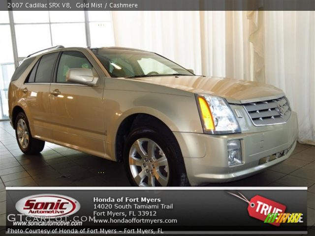 2007 Cadillac SRX V8 in Gold Mist