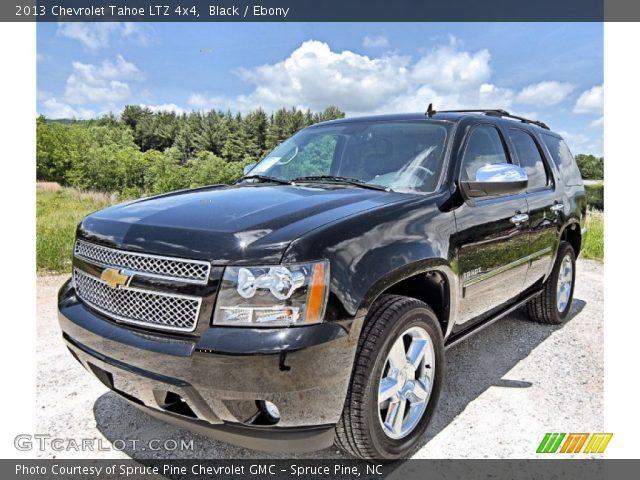 black 2013 chevrolet tahoe ltz 4x4 ebony interior vehicle archive 81685301. Black Bedroom Furniture Sets. Home Design Ideas
