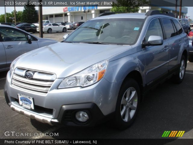 ice silver metallic 2013 subaru outback 3 6r limited black interior vehicle. Black Bedroom Furniture Sets. Home Design Ideas