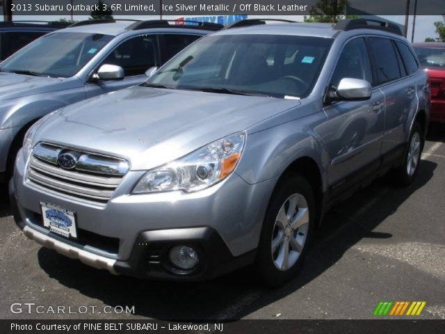 ice silver metallic 2013 subaru outback 3 6r limited off black leather interior gtcarlot. Black Bedroom Furniture Sets. Home Design Ideas