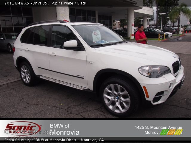 alpine white 2011 bmw x5 xdrive 35i black interior vehicle archive 81742093. Black Bedroom Furniture Sets. Home Design Ideas