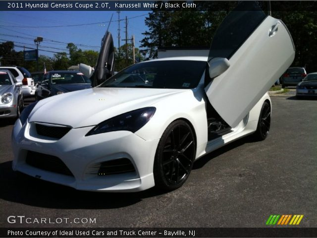Karussell White 2011 Hyundai Genesis Coupe 2 0t Black Cloth Interior Gtcarlot Com