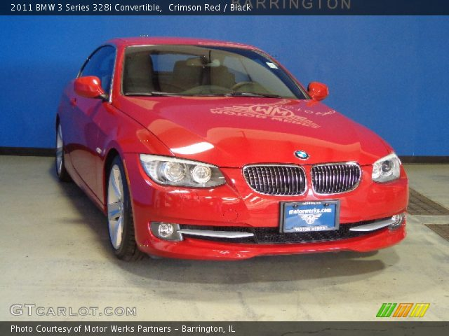 Crimson Red 2011 Bmw 3 Series 328i Convertible Black Interior Vehicle