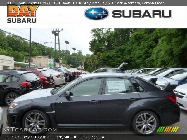 Dark Gray Metallic 2013 Subaru Impreza Wrx Sti 4 Door Sti Black