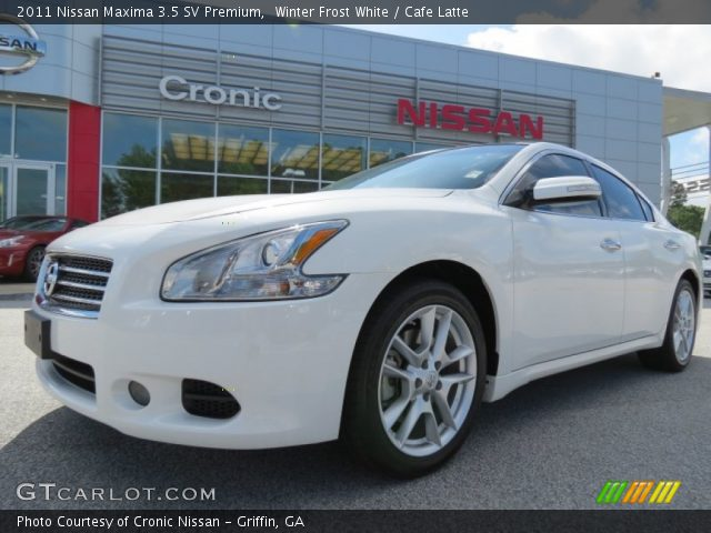 winter frost white 2011 nissan maxima 3 5 sv premium cafe latte interior. Black Bedroom Furniture Sets. Home Design Ideas