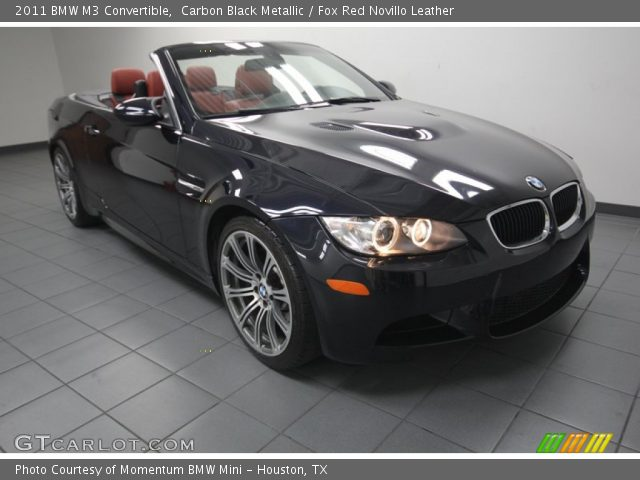 carbon black metallic 2011 bmw m3 convertible fox red. Black Bedroom Furniture Sets. Home Design Ideas