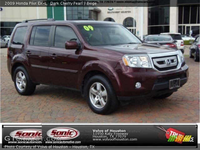 Dark Cherry Pearl 2009 Honda Pilot Ex L Beige Interior Vehicle Archive