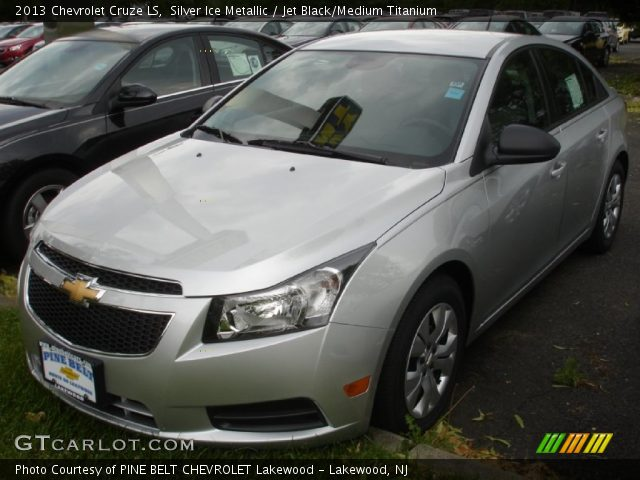 silver ice metallic 2013 chevrolet cruze ls with jet black medium. Cars Review. Best American Auto & Cars Review