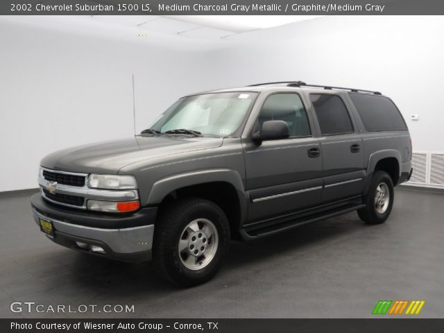 medium charcoal gray metallic 2002 chevrolet suburban 1500 ls graphite medium gray interior. Black Bedroom Furniture Sets. Home Design Ideas
