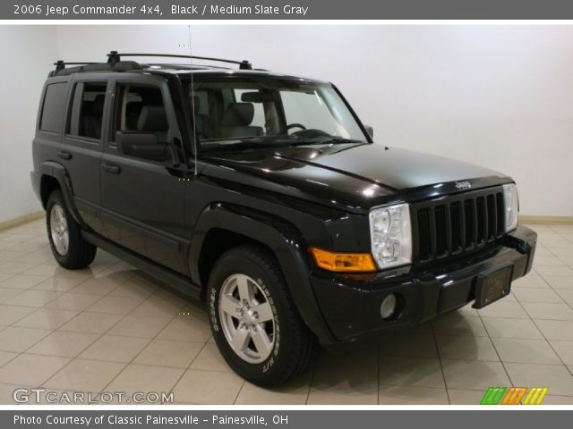 Black 2006 Jeep Commander 4x4 Medium Slate Gray Interior Vehicle Archive