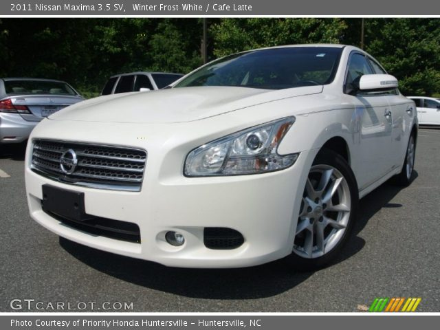 winter frost white 2011 nissan maxima 3 5 sv cafe latte interior vehicle. Black Bedroom Furniture Sets. Home Design Ideas