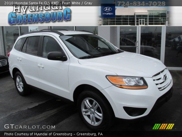 pearl white 2010 hyundai santa fe gls 4wd gray interior vehicle archive. Black Bedroom Furniture Sets. Home Design Ideas