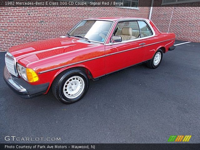 1982 Mercedes-Benz E Class 300 CD Coupe in Signal Red