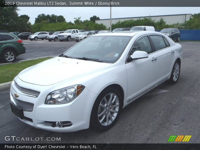 summit white 2009 chevrolet malibu ltz sedan ebony. Black Bedroom Furniture Sets. Home Design Ideas