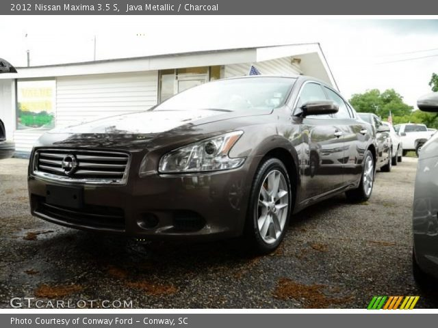 java metallic 2012 nissan maxima 3 5 s charcoal interior vehicle archive. Black Bedroom Furniture Sets. Home Design Ideas