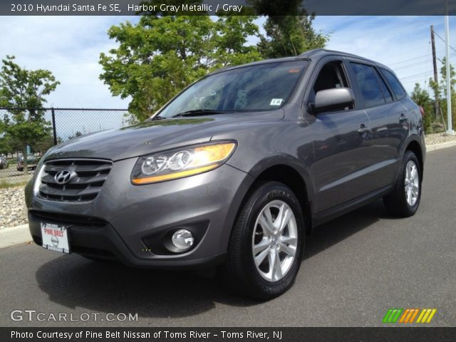 harbor gray metallic 2010 hyundai santa fe se gray interior vehicle archive. Black Bedroom Furniture Sets. Home Design Ideas