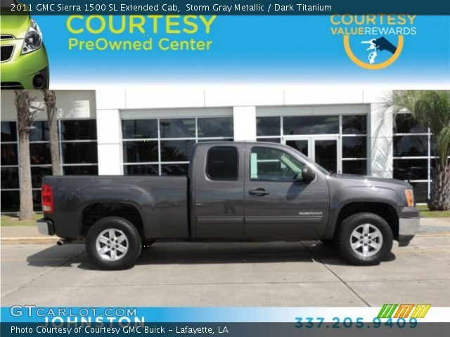 2011 GMC Sierra 1500 SL Extended Cab in Storm Gray Metallic
