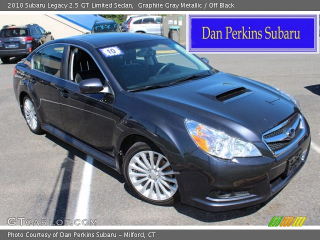 graphite gray metallic 2010 subaru legacy 2 5 gt limited sedan off black interior gtcarlot. Black Bedroom Furniture Sets. Home Design Ideas