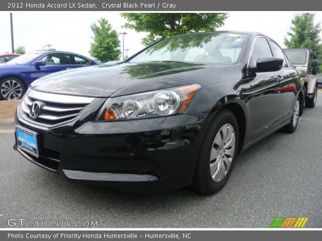 Crystal black pearl 2012 honda accord lx sedan gray for 2012 honda accord black