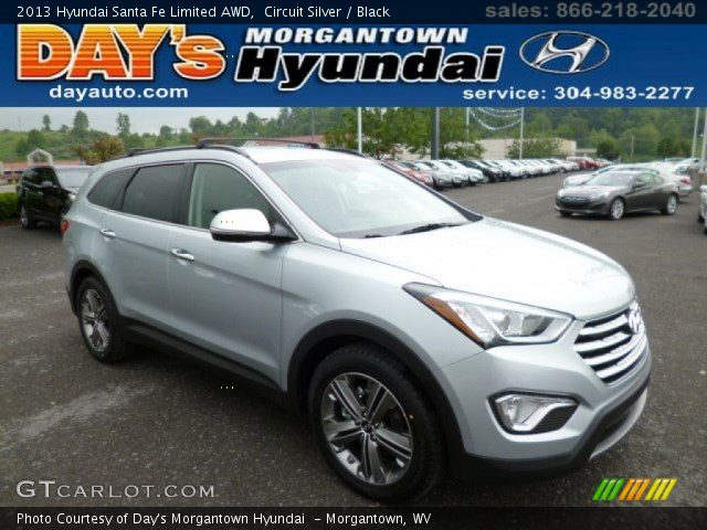 circuit silver 2013 hyundai santa fe limited awd black interior vehicle. Black Bedroom Furniture Sets. Home Design Ideas