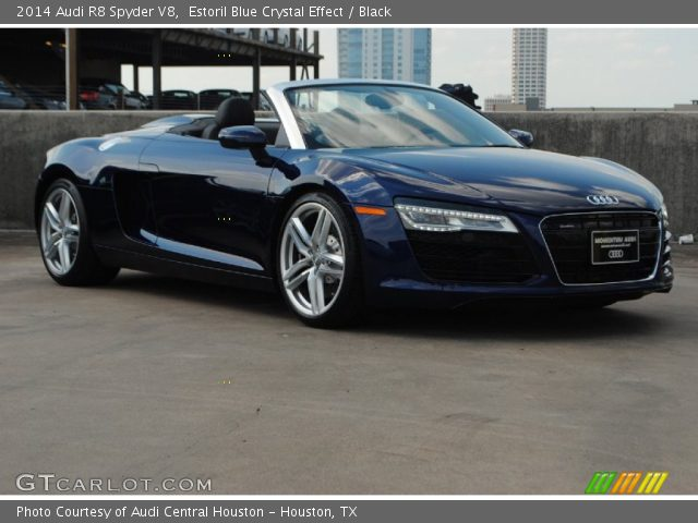 2014 Audi R8 Spyder V8 in Estoril Blue Crystal Effect