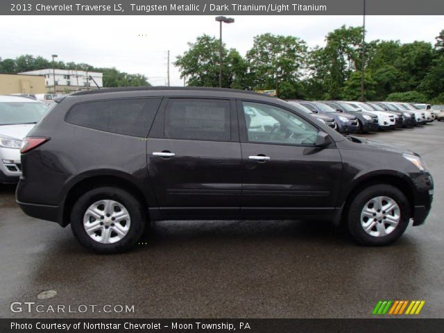 Tungsten Metallic 2013 Chevrolet Traverse LS with Dark Titanium/Light ...