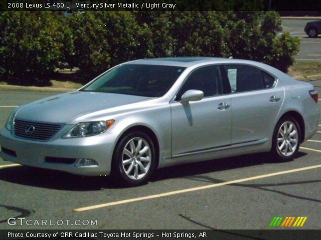 mercury silver metallic 2008 lexus ls 460 l light gray. Black Bedroom Furniture Sets. Home Design Ideas