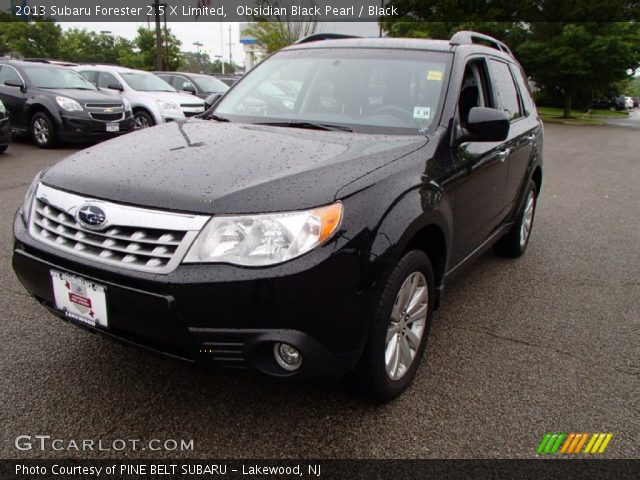 obsidian black pearl 2013 subaru forester 2 5 x limited black interior. Black Bedroom Furniture Sets. Home Design Ideas