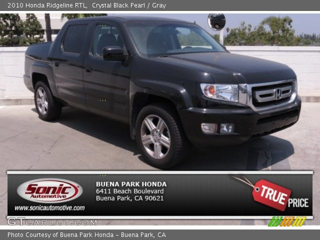 crystal black pearl 2010 honda ridgeline rtl gray interior vehicle archive. Black Bedroom Furniture Sets. Home Design Ideas