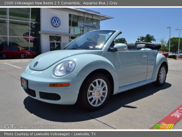 aquarius blue 2006 volkswagen new beetle 2 5 convertible grey interior. Black Bedroom Furniture Sets. Home Design Ideas