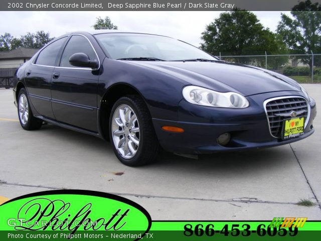 Deep Sapphire Blue Pearl - 2002 Chrysler Concorde Limited - Dark Slate ...