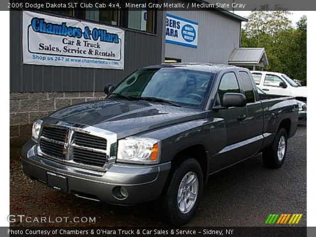 mineral gray metallic 2006 dodge dakota slt club cab 4x4 medium slate gray interior. Black Bedroom Furniture Sets. Home Design Ideas