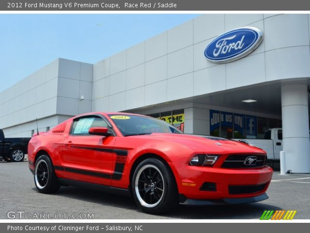race red 2012 ford mustang v6 premium coupe saddle interior vehicle archive. Black Bedroom Furniture Sets. Home Design Ideas