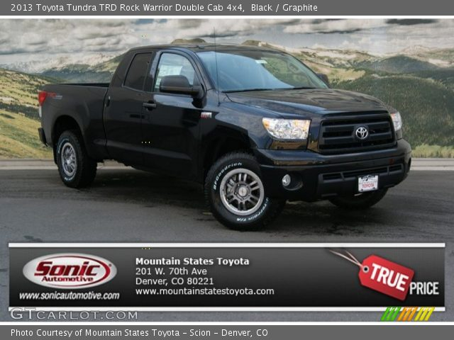 black 2013 toyota tundra trd rock warrior double cab 4x4. Black Bedroom Furniture Sets. Home Design Ideas
