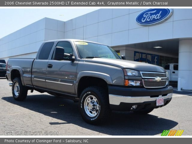 graystone metallic 2006 chevrolet silverado 2500hd lt extended cab 4x4 dark charcoal. Black Bedroom Furniture Sets. Home Design Ideas