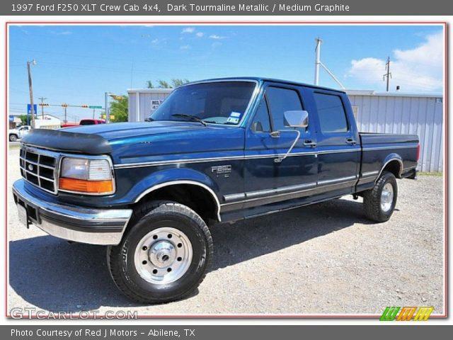 dark tourmaline metallic 1997 ford f250 xlt crew cab 4x4 medium graphite interior gtcarlot. Black Bedroom Furniture Sets. Home Design Ideas
