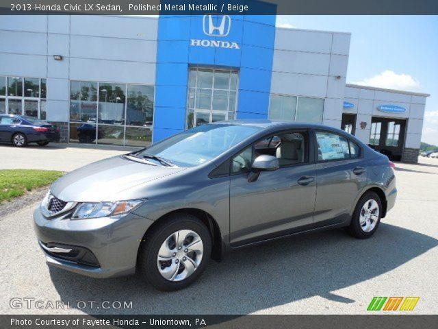 polished metal metallic 2013 honda civic lx sedan beige interior vehicle. Black Bedroom Furniture Sets. Home Design Ideas