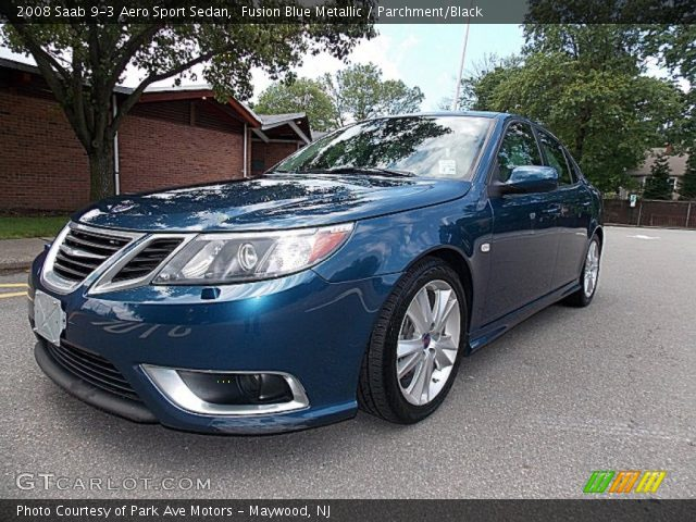 fusion blue metallic 2008 saab 9 3 aero sport sedan. Black Bedroom Furniture Sets. Home Design Ideas