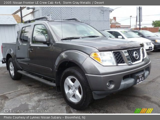 storm gray metallic 2005 nissan frontier le crew cab 4x4. Black Bedroom Furniture Sets. Home Design Ideas