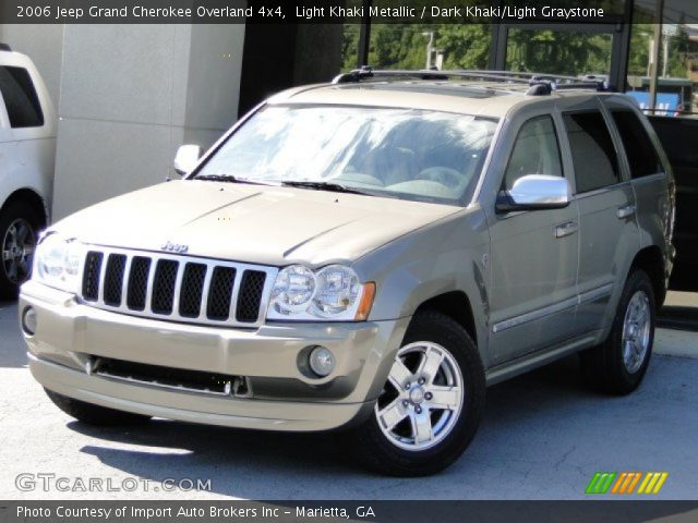 light khaki metallic 2006 jeep grand cherokee overland 4x4 dark khaki light graystone. Black Bedroom Furniture Sets. Home Design Ideas