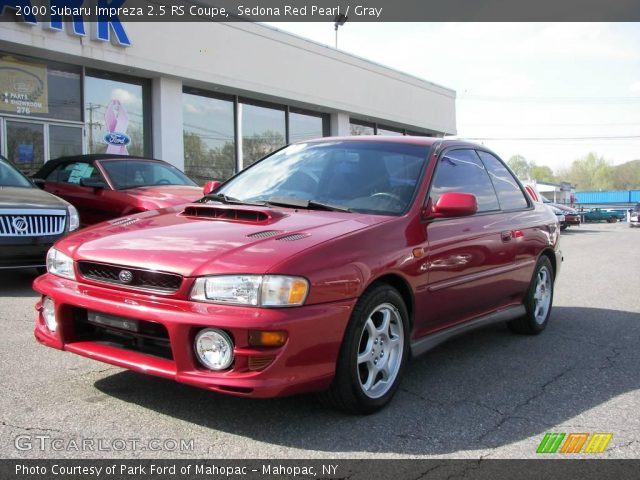 sedona red pearl 2000 subaru impreza 2 5 rs coupe gray. Black Bedroom Furniture Sets. Home Design Ideas