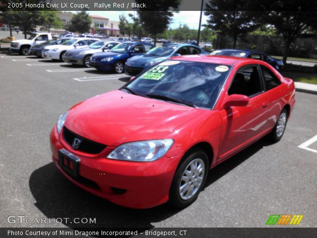 2005 Honda Civic LX Coupe in Rallye Red