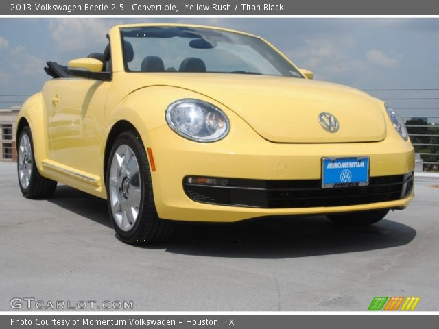 yellow rush 2013 volkswagen beetle 2 5l convertible. Black Bedroom Furniture Sets. Home Design Ideas