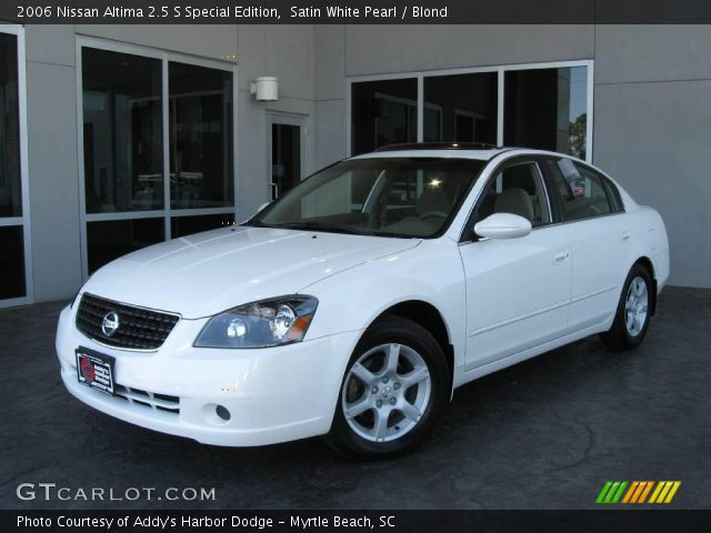 satin white pearl 2006 nissan altima 2 5 s special edition blond interior. Black Bedroom Furniture Sets. Home Design Ideas