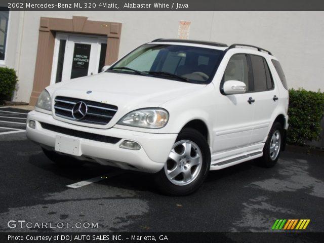 Alabaster white 2002 mercedes benz ml 320 4matic java for Mercedes benz ml 320 2002